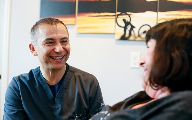 doctor smiling at patient